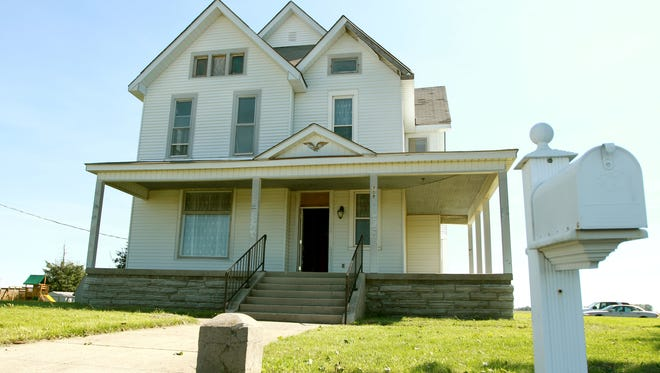 This picture shows the Dunham house in Kempton, Ind., which is the subject of a documentary film project about President Barack Obama's ancestral roots in Indiana.