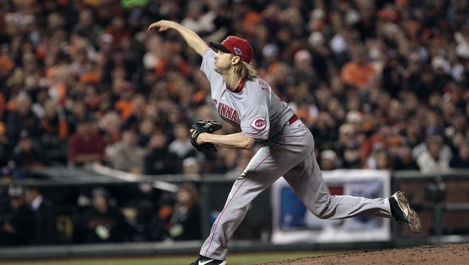 Reds' Bronson Arroyo retired the first 14 batters he faced before he gave up a single.