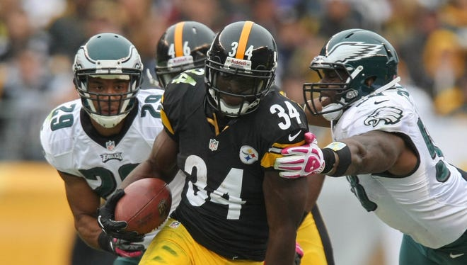 Steelers RB Rashard Mendenhall ran with authority in his 2012 debut Sunday.