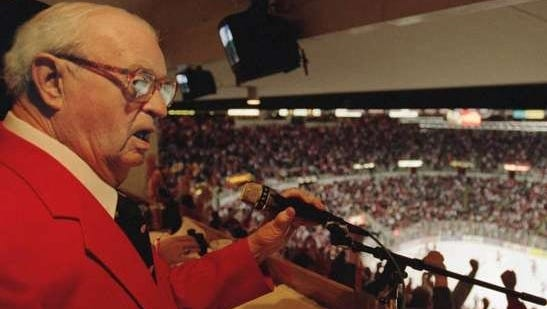Bud Lynch's career with the Wings began in 1949. He did radio, then TV work for the team in 1949-1975.