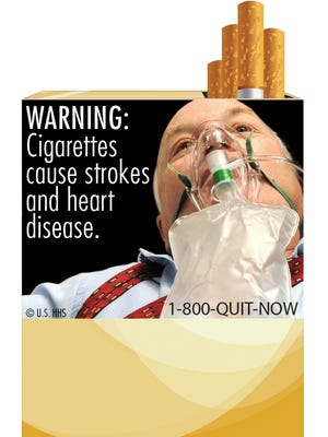 FDA warning labels depict in graphic detail the negative health effects of tobacco use.