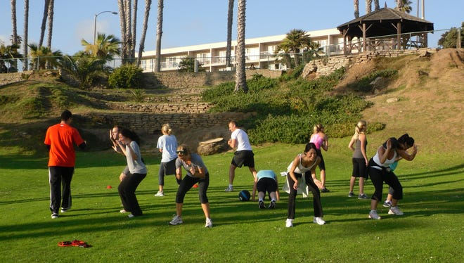 The Viceroy Santa Monica in California offers a one-hour morning boot camp.