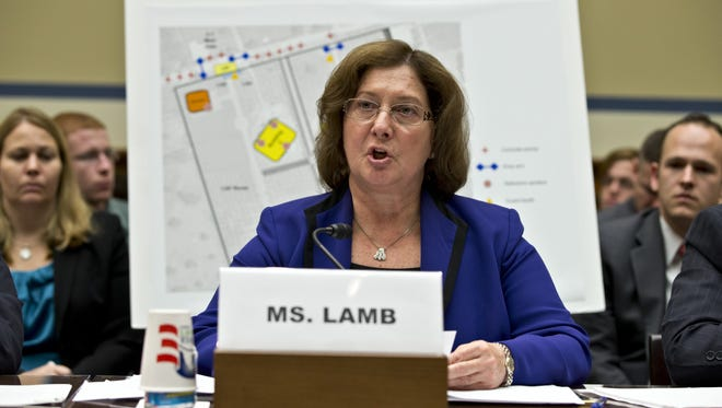 Charlene Lamb, of the State Department, testifies at the Benghazi, Libya hearing.