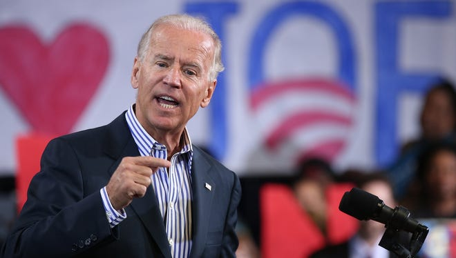 Vice President Biden speaks at the Chesterfield Country Fairgrounds on Sept. 25 in Chesterfield, Va.