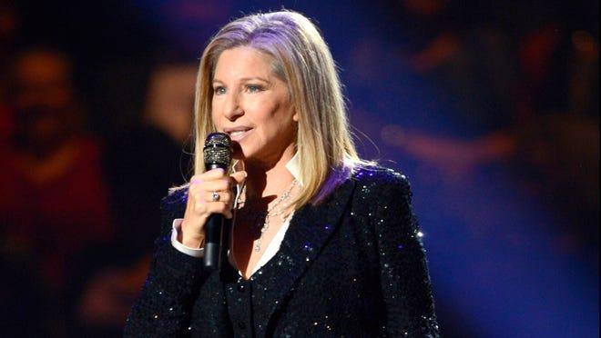 Barbra Streisand performs in Brooklyn on Thursday.