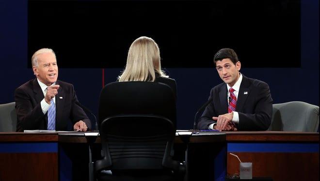 Vice President Biden and Wisconsin Rep. Paul Ryan debate in Danville, Ky., on Thursday.