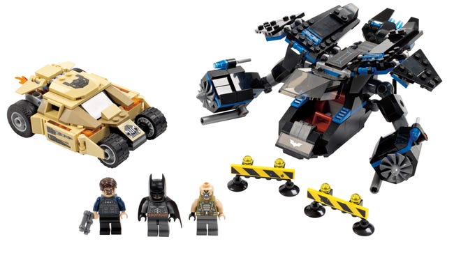 "A new LEGO set inspired by ""The Dark Knight Rises"" is one of several new toys from the company arriving in January."