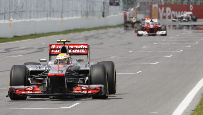 NBC will televise four Formula One races beginning in 2013, including the Canadian Grand Prix, won by Lewis Hamilton in 2012.