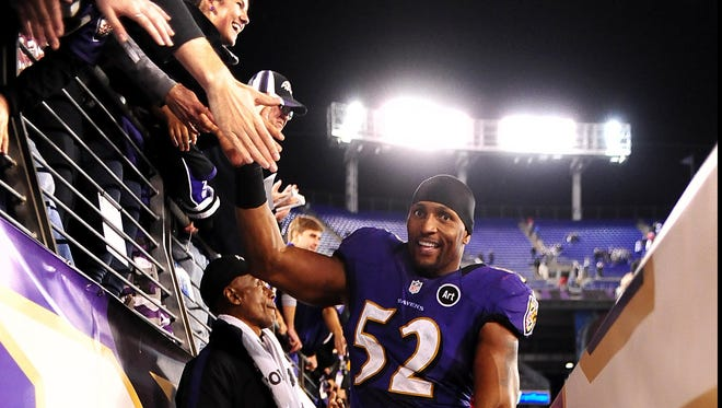 Baltimore Ravens linebacker Ray Lewis, out for the season with a triceps injury, has drawn interest from the TV networks as a possible analyst when his playing days are done for good.