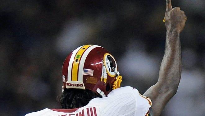 "Rookie quarterback Robert Griffin III says the Washington Redskins are ""my team."""