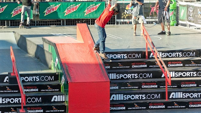 Paul Rodriguez competes at the Dew Tour in Portland, Ore., on Sept. 20, 2010.