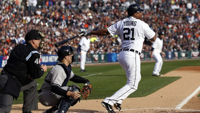 Tigers DH Delmon Young became the first player with four game-winning RBI in one postseason series.