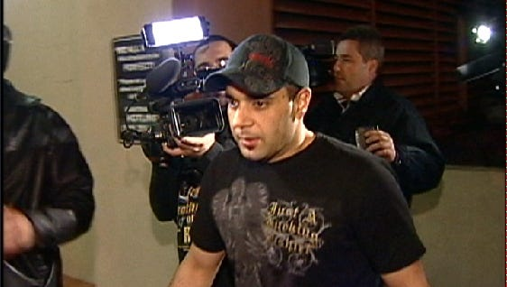 This Jan. 31, 2008, video frame grab, released by AP Television, shows Sam Lutfi leaving UCLA medical center after visiting Britney Spears in Los Angeles.