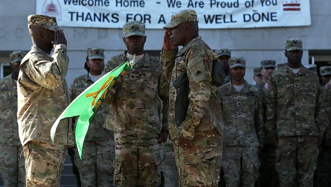 A D.C. Army National Guard unit is honored Oct. 16 after being in Afghanistan.