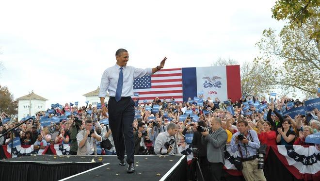 President Obama Wednesday in Iowa.