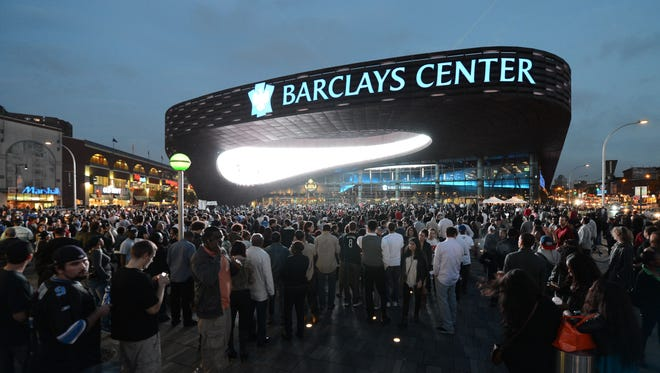 Fans arrive for a Jay-Z concert last month at the Barclays Center in Brooklyn.