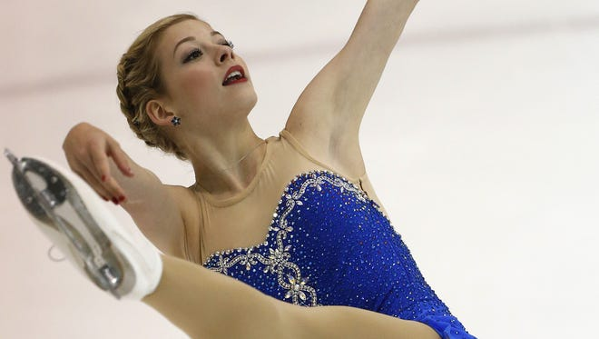 Gracie Gold from the United States competes in the senior women's free skate during the 2012 U.S. International Figure Skating Classic on Sept. 16 in Salt Lake City.