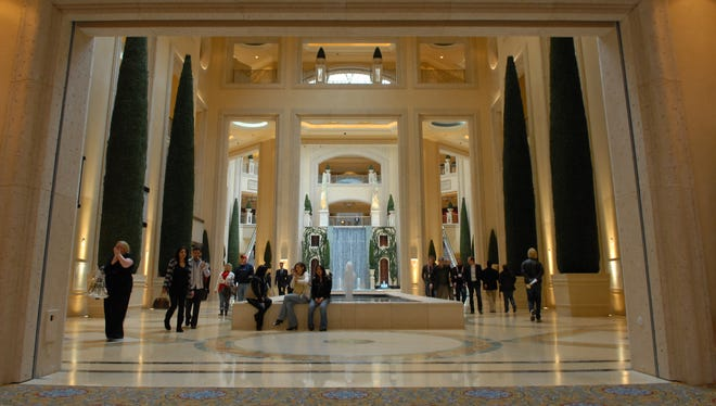 An inside view of The Palazzo in Las Vegas.