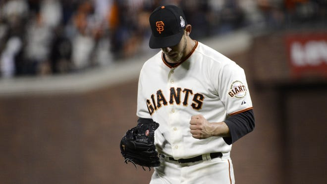 Madison Bumgarner pitched seven shutout innings to help the Giants take a 2-0 series lead.