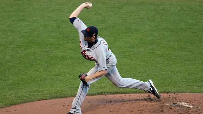 Tigers starting pitcher Doug Fister gave up only one run in six innings in Game 2.