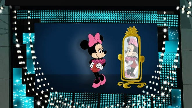 This undated artist rendering released by Barneys New York / Disney shows Disney character Minnie Mouse featured in the Barneys New York Madison Avenue holiday window.