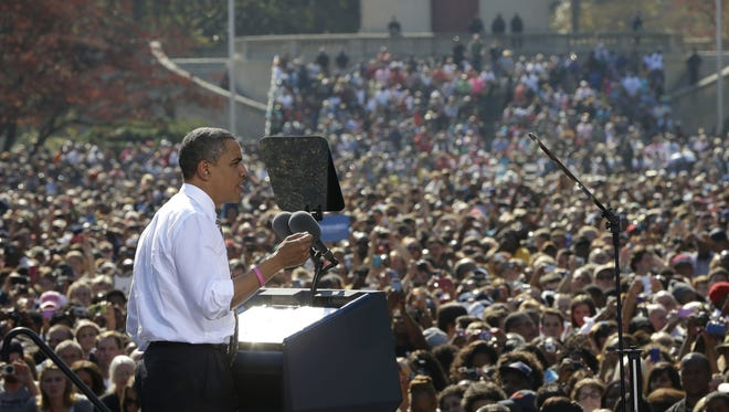 President Obama speaks at a campaign event in Richmond, Va., on Thursday.
