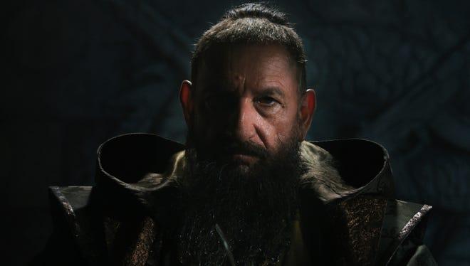 "Ben Kingsley plays the villainous Mandarin in ""Iron Man 3."""