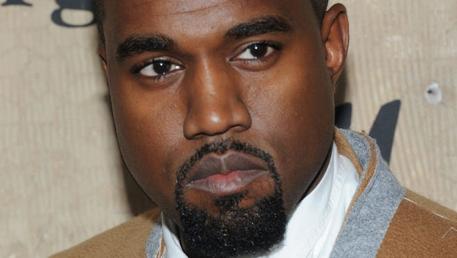 Kanye West attends the Maison Martin Margiela with H&M global launch event  on Tuesday.