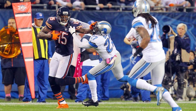 Bears wide receiver Brandon Marshall caught six passes for 81 yards last week against Detroit, but more important for his fantasy owners, he scored a touchdown for the third straight game.