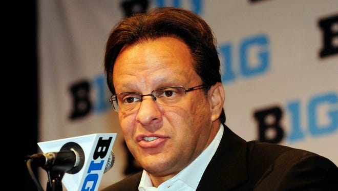 Indiana coach Tom Crean speaks at Big Ten media day on Thursdya.