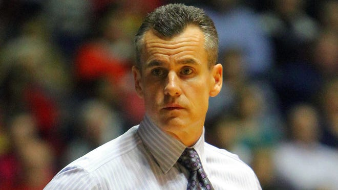 Troubled sophomore Cody Larson has decided to leave the Florida Gators men's basketball team and coach Billy Donovan (pictured).