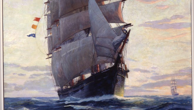 The W.R. Grace, as depicted in a painting in the Maine Maritime Museum.