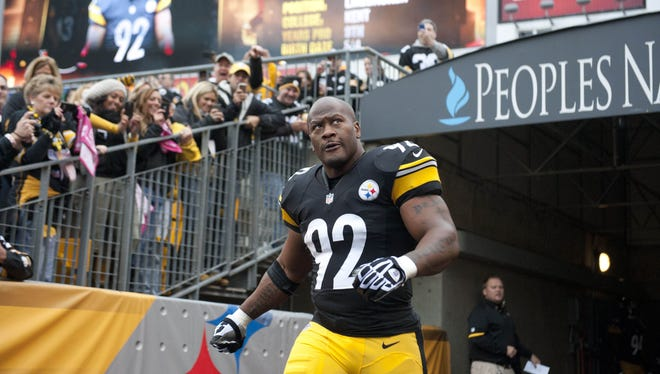 Pittsburgh Steelers linebacker James Harrison missed the first three games of the season following arthroscopic knee surgery.