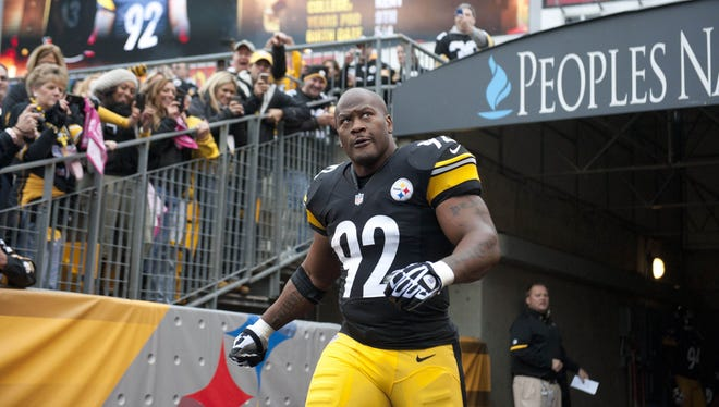Steelers outside linebacker James Harrison hopes to keep Robert Griffin III in front of him since he doubts he'll be able to catch the quarterback.