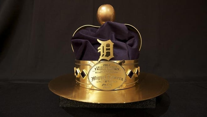 Miguel Cabrera's crown for winning the Triple Crown in 2012.