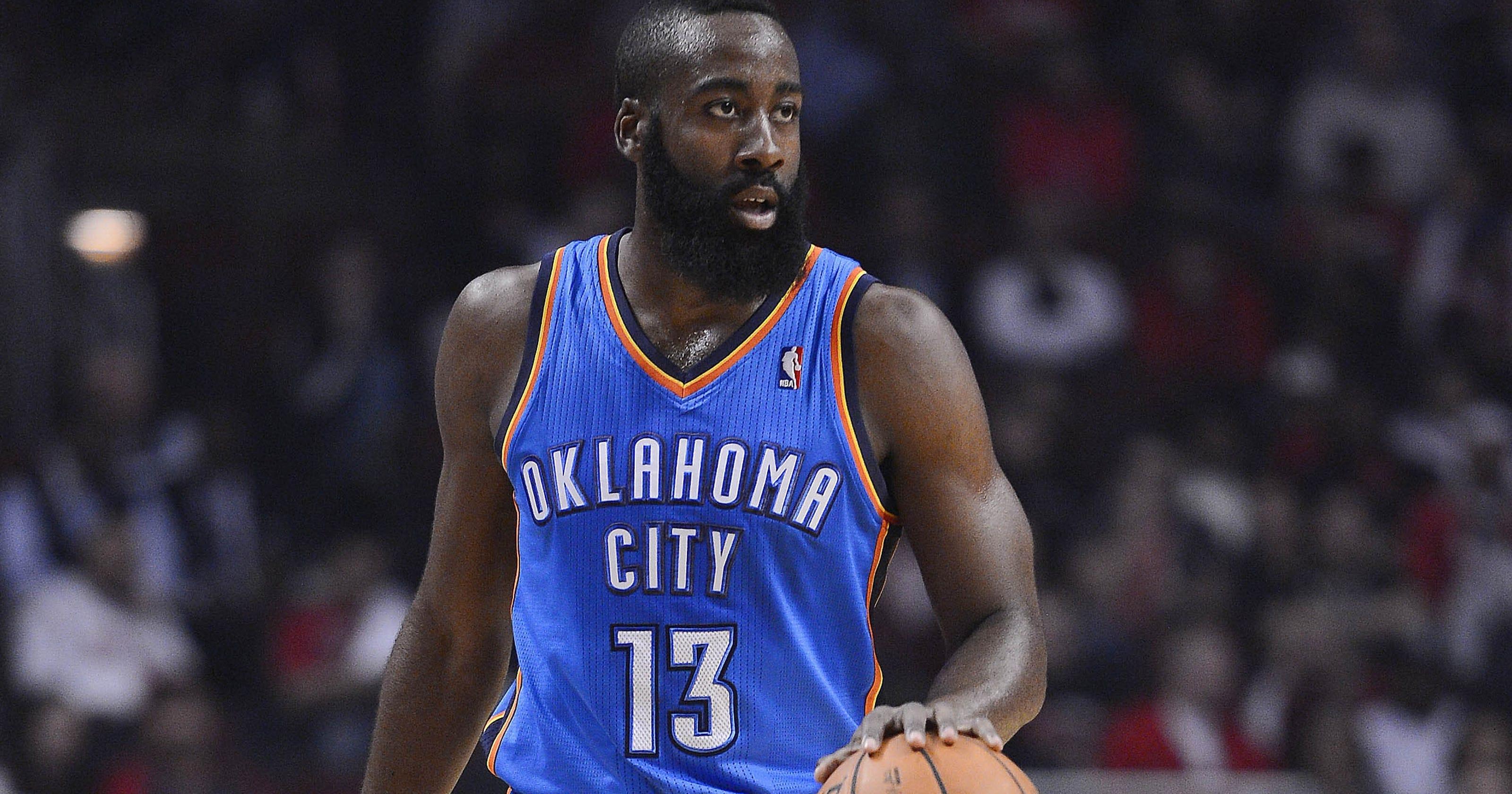 ed56aa4e7d9d Thunder trade James Harden to Rockets