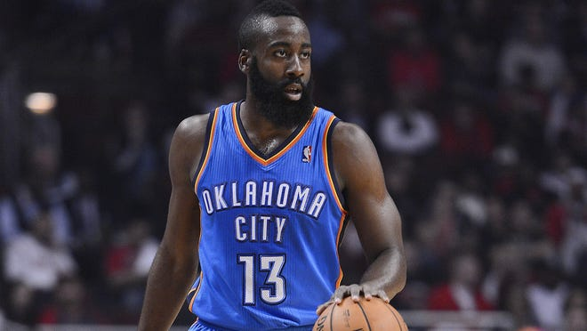 James Harden averaged 16.8 points and 4.1 rebounds per game last season.