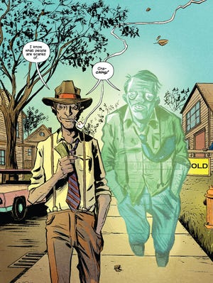 "Geoff Johns and Jeff Lemire team for a story about a huckster and his dead brother in Vertigo Comics' ""Ghosts"" one-shot."