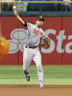 Baltimore Orioles shortstop J.J. Hardy won the first Gold Glove of his career Tuesday.
