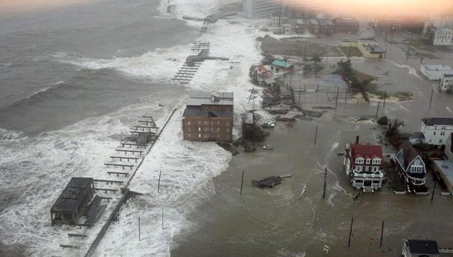 This photo provided by 6abc Action News shows the Inlet section of Atlantic City, N.J.