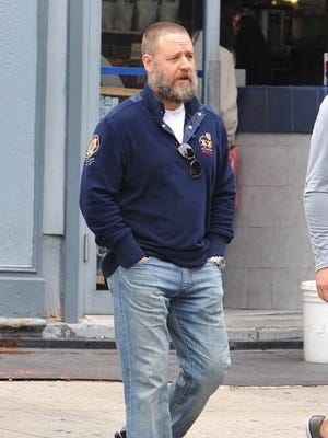 Russell Crowe spotted in NYC on Oct. 26.