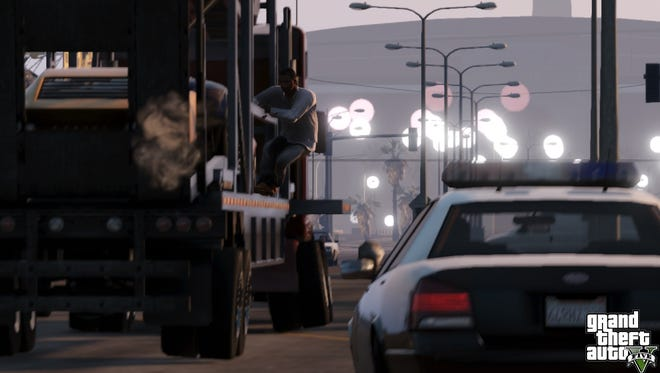 A scene from 'Grand Theft Auto V.'