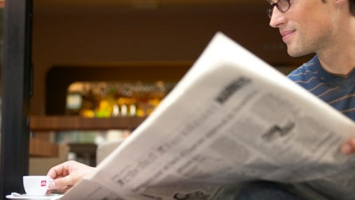 Newspaper circulation nearly unchanged in six months ended Sept. 30, ABC says.