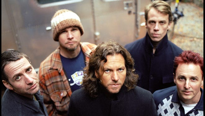 Pearl Jam musicians, from left, Stone Gossard, Jeff Ament, Eddy Vedder, Matt Cameron and Mike McCready in a 2006 photo.