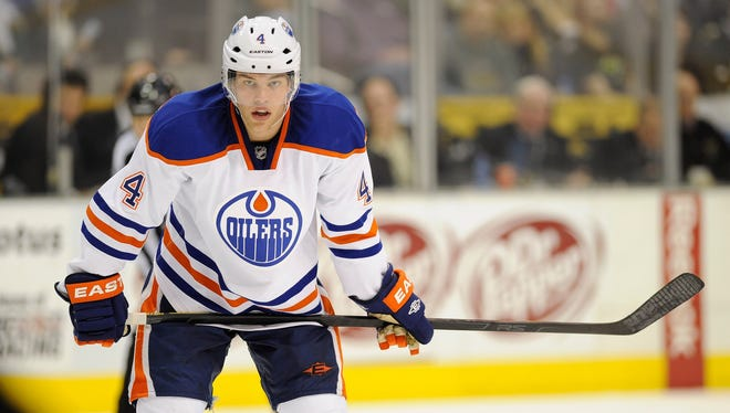 Edmonton Oilers left wing Taylor Hall's 2011-12 was cut short by a concussion and shoulder injury.