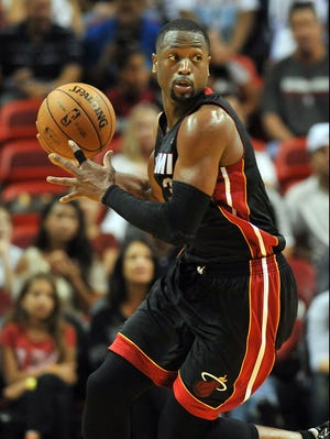 Miami Heat guard Dwyane Wade will receive his second NBA championship ring before the team hosts the season opener Tuesday vs. the Boston Celtics.