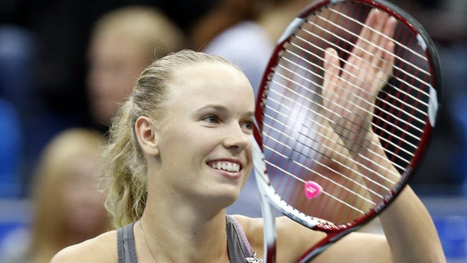 Caroline Wozniacki, shown last week in Russia, won her opening match in Bulgaria