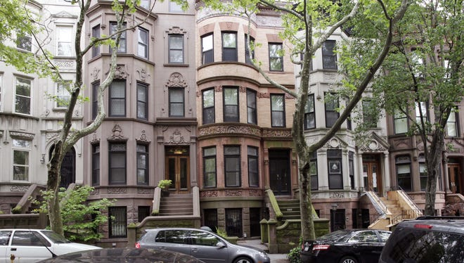 Park Slope, the upscale Brooklyn neighborhood shown in here in May, was largely spared the wrath of Hurricane Sandy. although many residents were unable to get to work in Manhattan.
