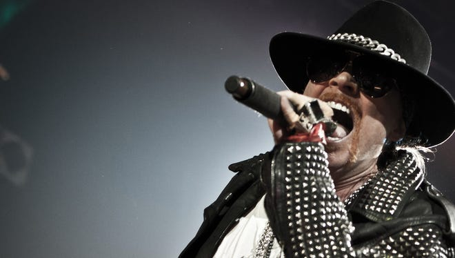 Guns 'N' Roses lead vocalist Axl Rose will be front and center during the band's Las Vegas residency.