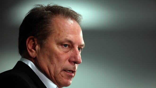 Michigan State Spartan's basketball head coach Tom Izzo talks to the media in October for the team's media day.